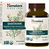 Himalaya Organic Shatavari for PMS, Menstrual Cramp Relief, Menopause Support, and Women's Health, 1,300 mg, 60 Caplets…