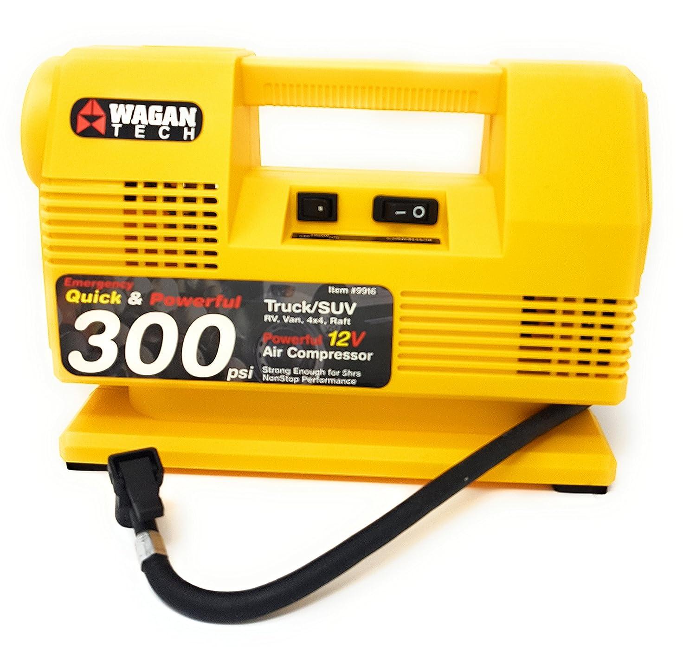 WAGAN 12 V coche compresor de aire con lámpara halógena 300PSI/21bar: Amazon.es: Coche y moto