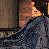 "Pine and River Ultra Plush Weighted Blanket -Great for Winter | Minky Warm Luxury - (60""X80"", 15 Lb) 
