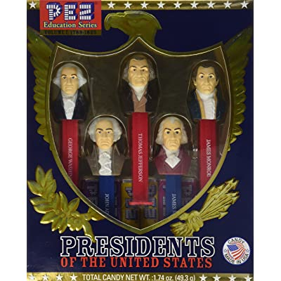 Presidents of the USA PEZ Candy Dispensers: Volume 1 - 1789-1825: Toys & Games