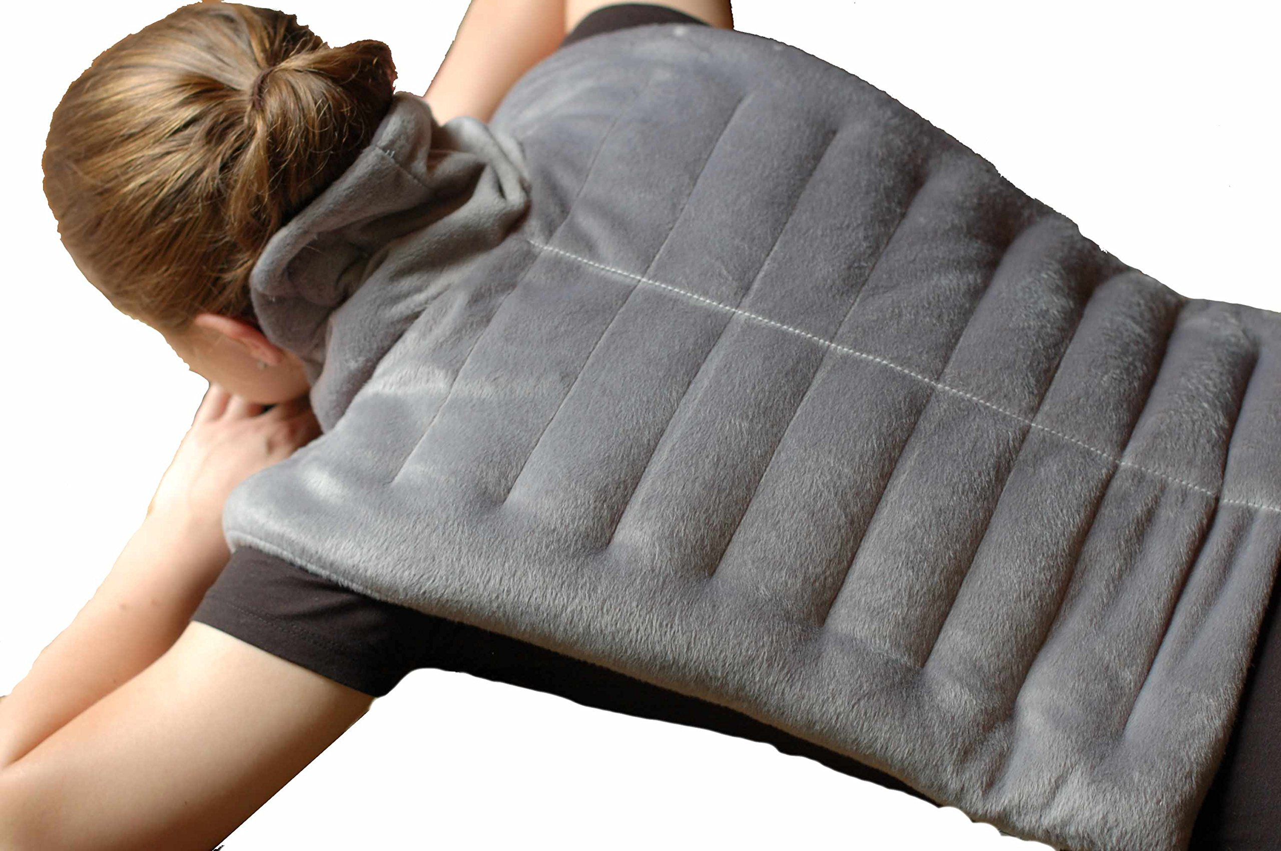Premium Heated Herbal Hot/Cold Therapy Neck , Shoulder and Back Wrap - 16'' x 24'' - FREE SLEEP MASK INCLUDED !