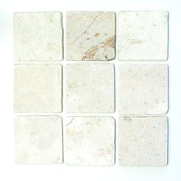 Fliesen Mosaik 1 Karton 50 St Marmor Boden Bad Küche WC Weiß Matt NEU 10mm #