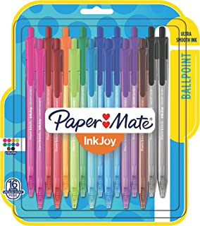 Paper Mate InkJoy 100ST Ballpoint Pens, Medium Point, Black/Red/Blue Ink, 8 Pack (1945930)