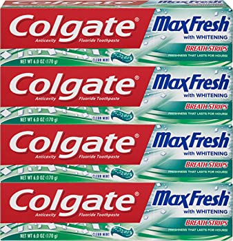 4-Pack Colgate Max Fresh Whitening Toothpaste, 6 ounce