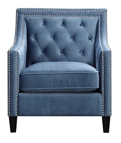 Good Picket House Furnishings Teagan Accent Arm Chair In Marine Blue