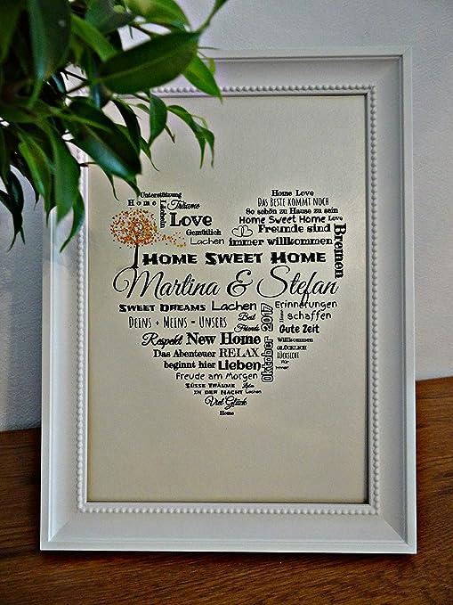 Home Sweet Home Geschenk Zum Einzug Umzugsgeschenk Einweihungsgeschenk Geschenk Zum Umzug Einzugsgeschenk Einweihung Personalisiertes Geschenk