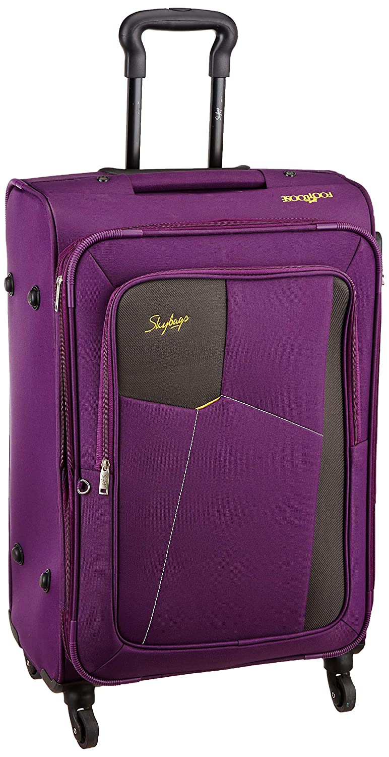 Skybags Rubik Polyester 68 Cms Purple Softsided Check-in