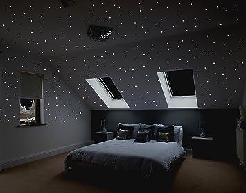 Bett Sternenhimmel sternenreich realistischer sternenhimmel zum aufkleben über 400