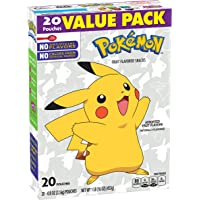 Betty Crocker Nintendo Pokémon Fruit Flavored Snacks Assorted Fruit, 20 ct, 16 oz