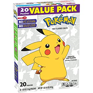 Betty Crocker Nintendo Pokémon Fruit Flavored Snacks Assorted Fruit, 20 ct, 16 oz