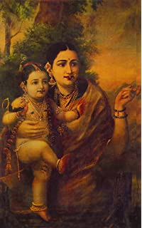 Canvas Champ Yashoda Adoring Krishna Unframed Canvas Prints Raja