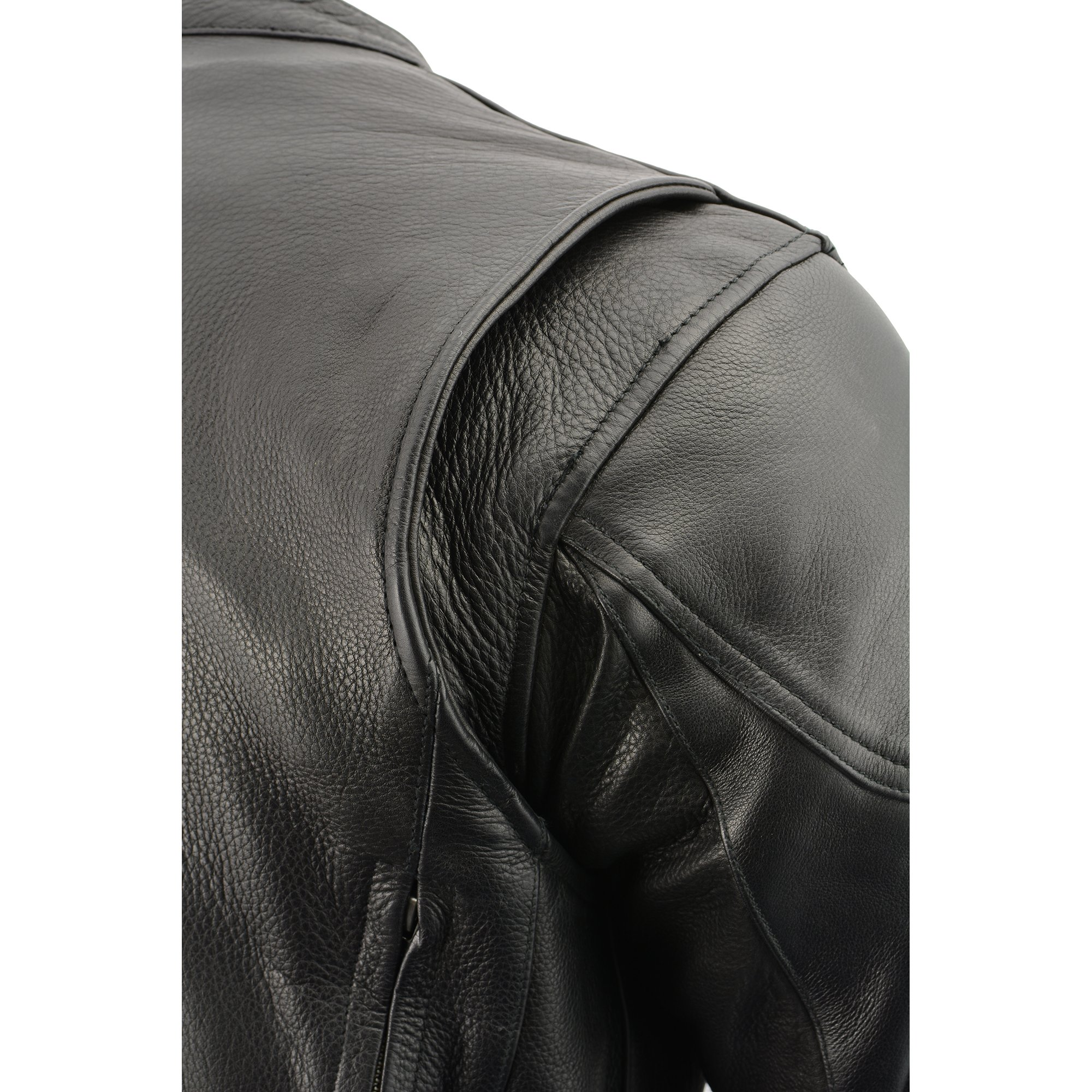 Milwaukee Leather Men's Side Lace Vented Scooter Jacket (Black, 5X-LargeTall) by Milwaukee Leather (Image #14)