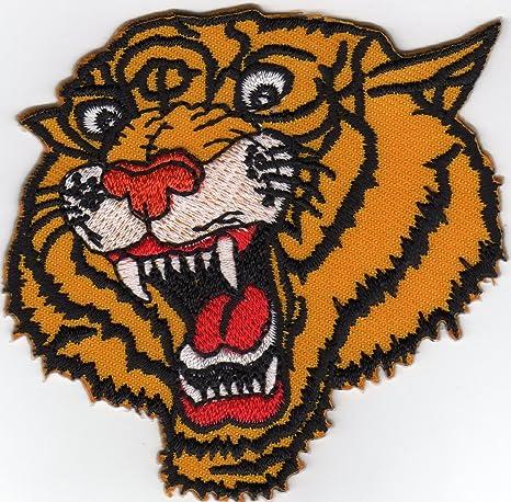 Tiger Big Cat Head Wild Animal Jungle Tatoo Biker Rider Jacket ...