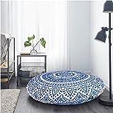Indian Large Mandala Floor Pillow Comfortable Home Car Bed Sofa Large Mandala Floor Pillows Round Bohemian Meditation Cushion Cover Ottoman Pouf Cover