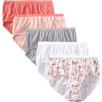 2183c5813 Just My Size Women s 5 Pack Cotton Brief Panty (Assortments May Vary)