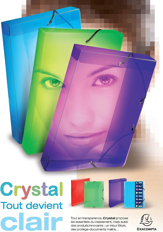 Exacompta 5962E Scatole Archivio 24x32 cm Cristal