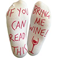 'If You Can Read This Bring Me Wine' Funny Socks for wine lover who has everything