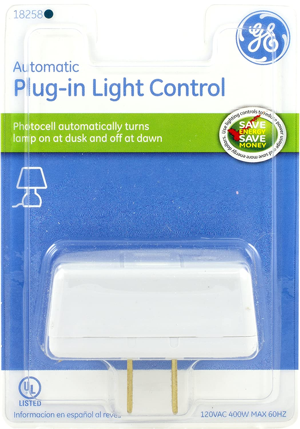 Automatic dusk to dawn light control - Ge Automatic Plug In Light Control Photocell On Off 18258 Led Household Light Bulbs Amazon Com