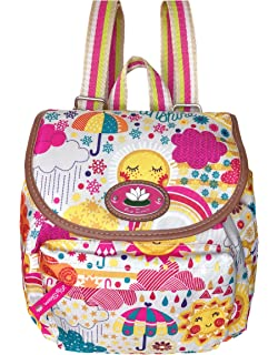 Lily Bloom Mini Backpack Colorful, Eco Friendly (SPRING SHOWERS)