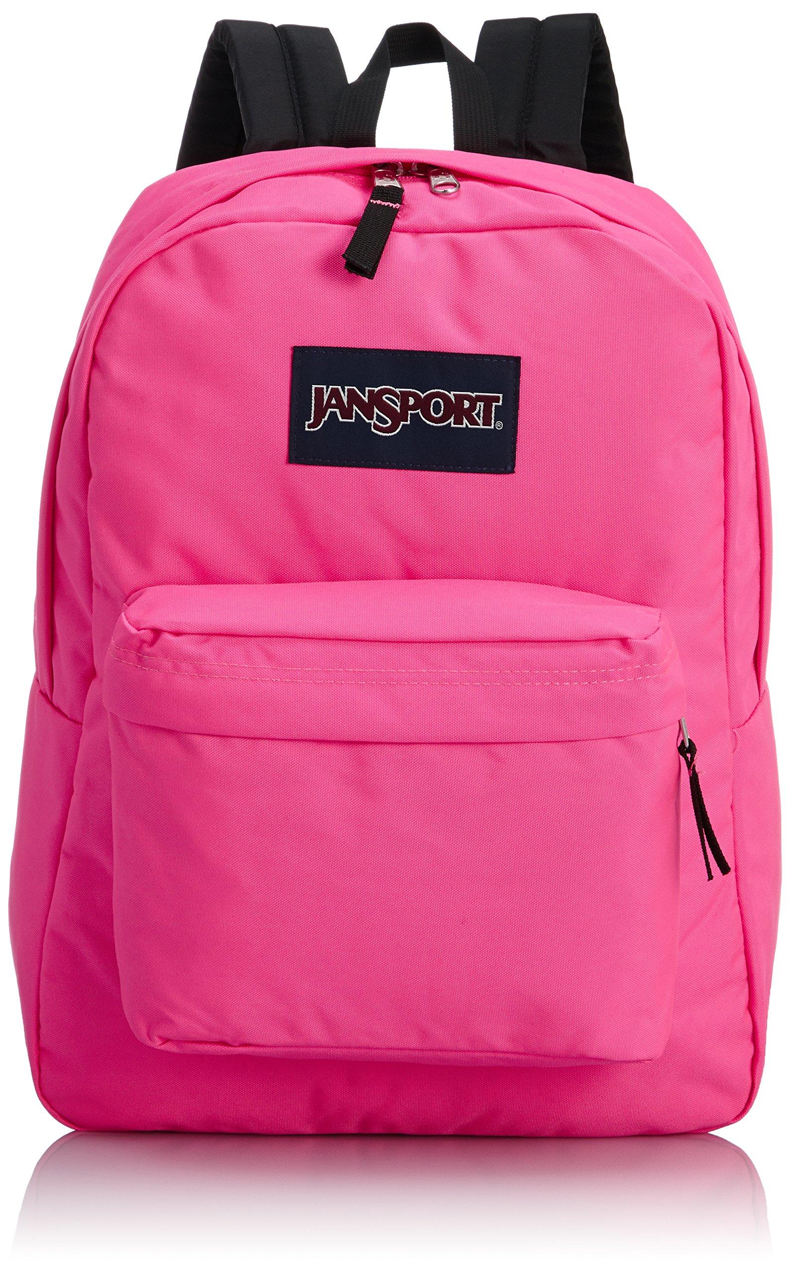 JanSport T501 Superbreak Backpack - Fluorescent Pink