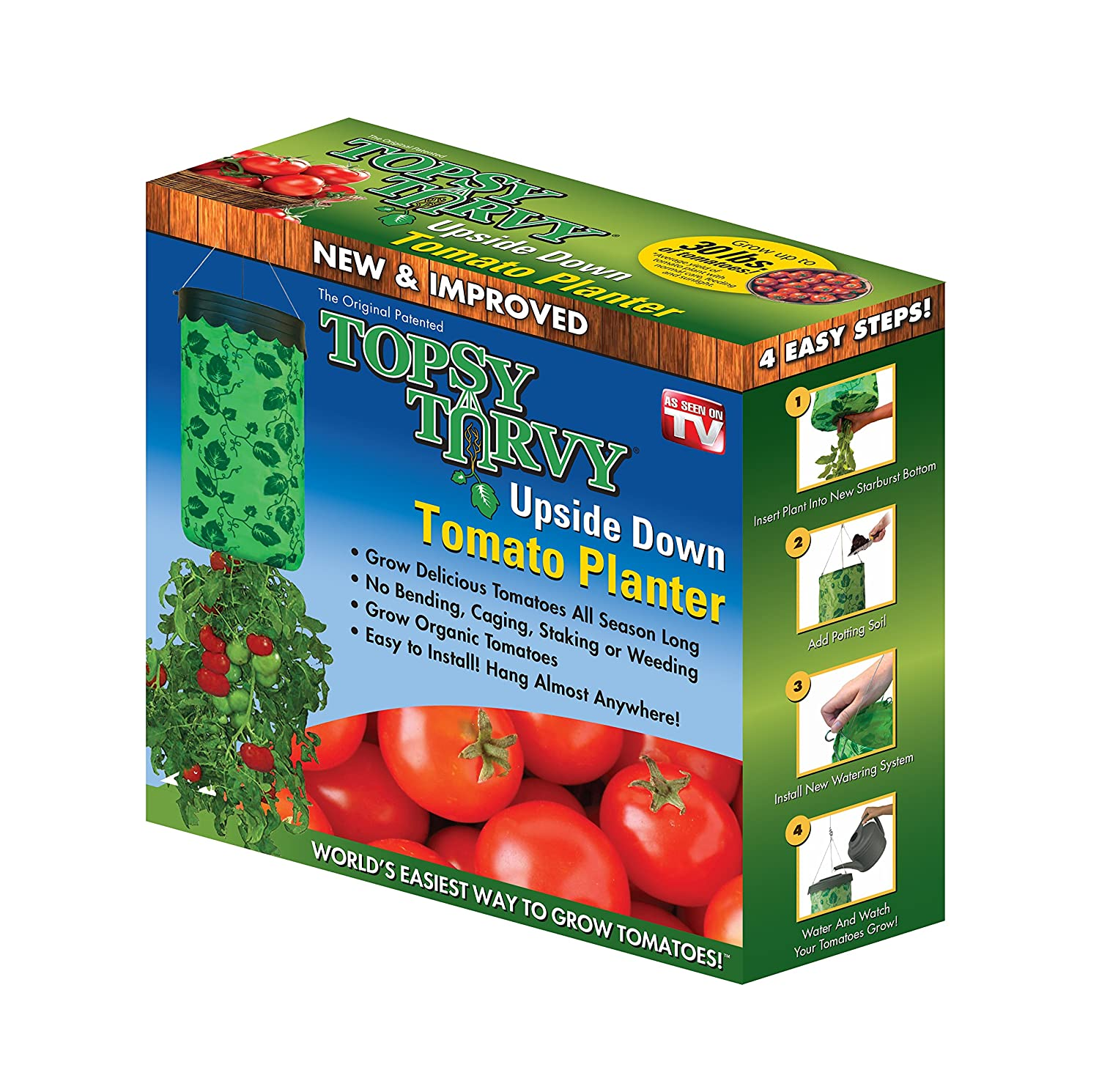 Amazon Topsy Turvy New & Improved Upside Down Tomato Planter