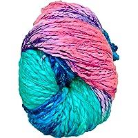 M.G Enterprise Sumo Teal Mix Wool Ball Hand Knitting Wool/Art Craft Soft Fingering Crochet Hook Yarn, Needle Acrylic Knitting Yarn Thread Dyed