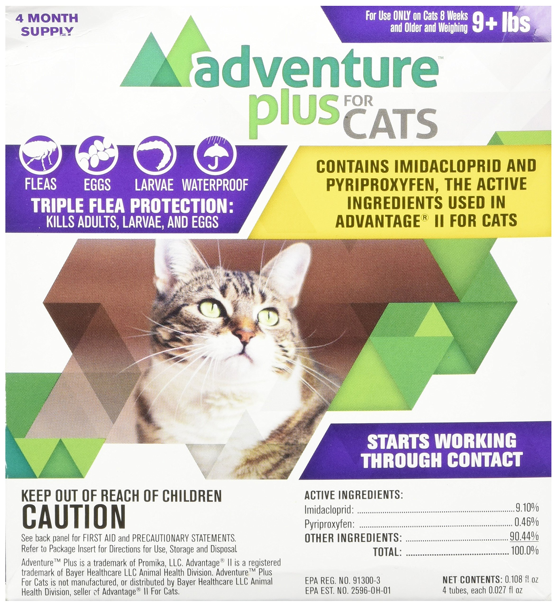 Adventure Plus for Cats  4pk 9lb+ by Promika