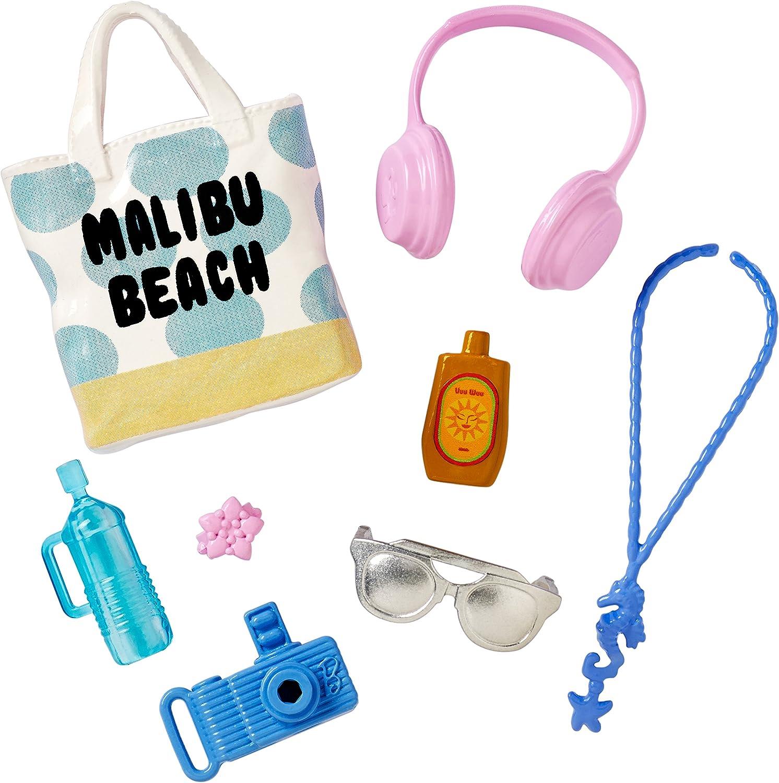 Amazon.es: MATTEL BARBIE PACK DE ACCESORIOS MALIBU BEACH FCP32 Barbie® Fashions: Juguetes y juegos