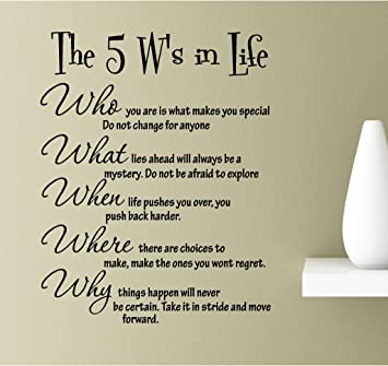 Amazoncom The 5 Ws In Life Who What When Where And Why Who