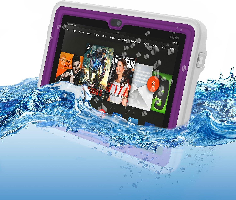 Amazon Com Atlas Waterproof Case For Kindle Fire Hdx 7 By Incipio Purple Kindle Store