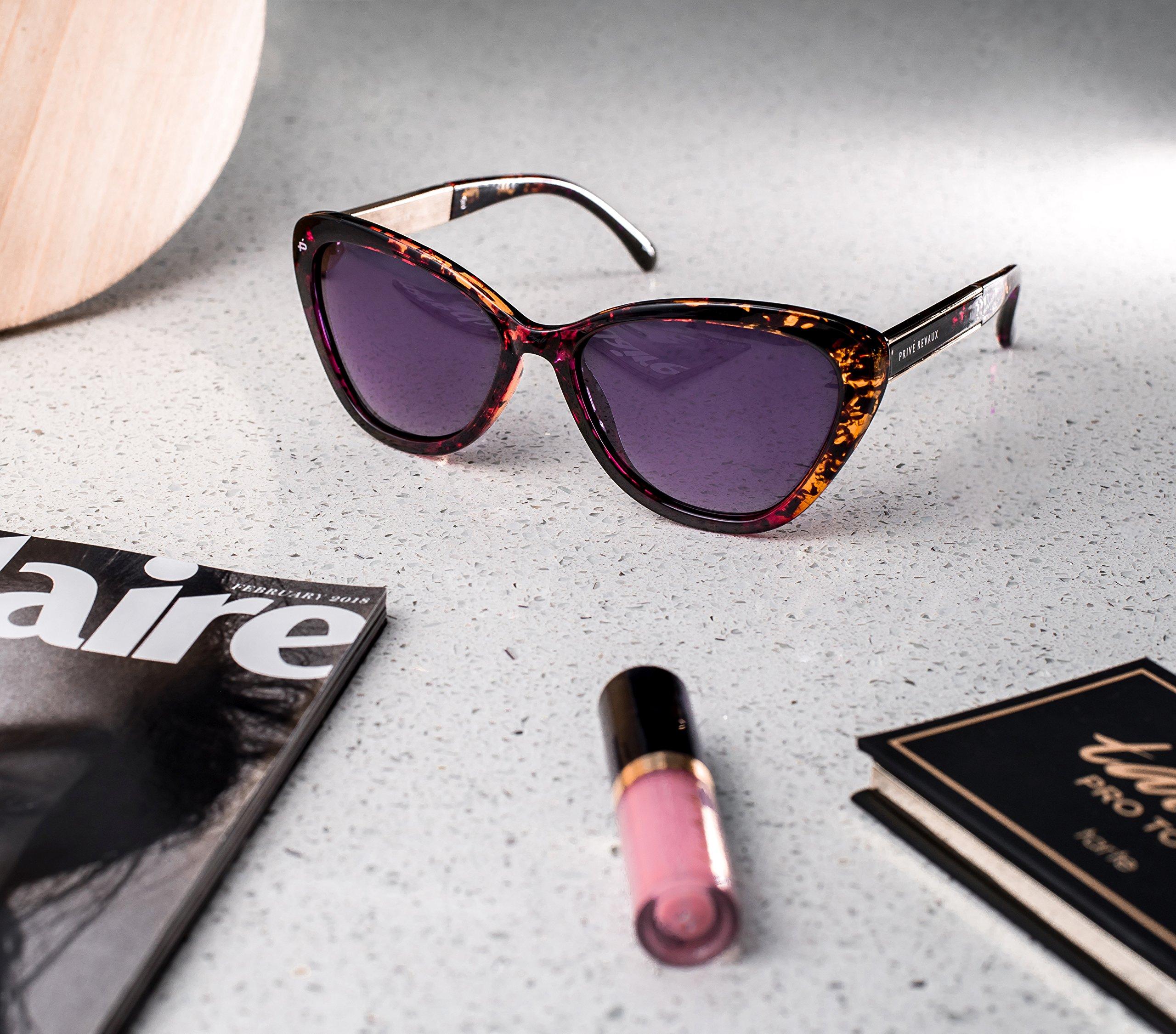 "PRIVÉ REVAUX ICON Collection ""The Hepburn"" Designer Polarized Retro Cat-Eye Sunglasses by PRIVÉ REVAUX (Image #5)"