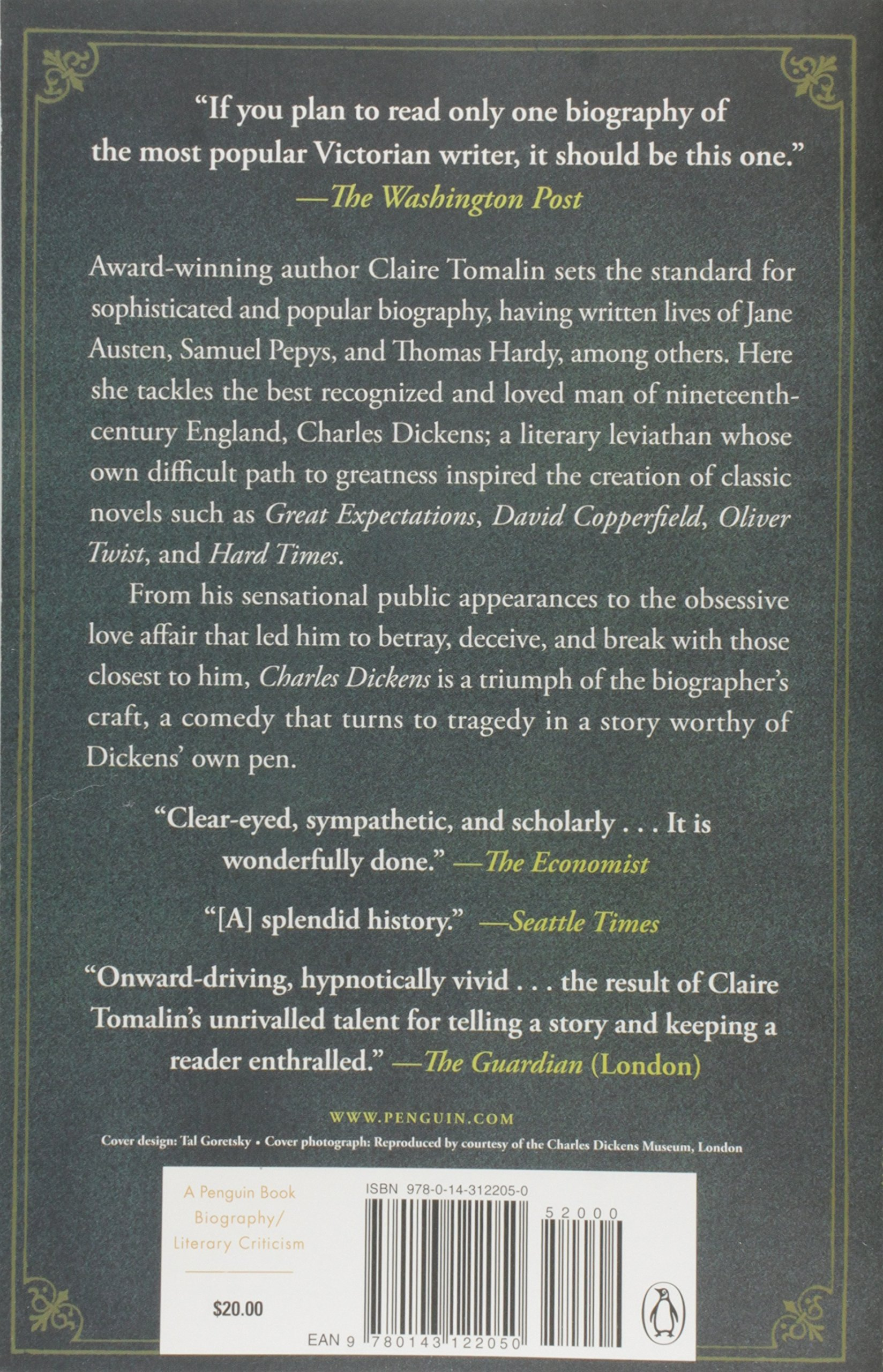 Amazon: Charles Dickens: A Life (9780143122050): Claire Tomalin: Books