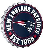 New England Patriots NFL Bottle Cap Wall Sign