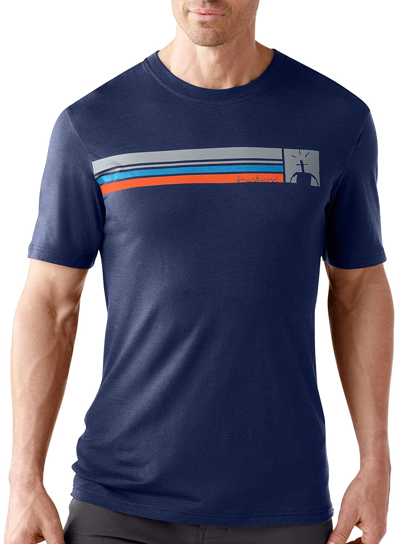 Smartwool Herren Bekleidung Logo Stripe Slim T