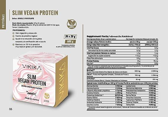 AMIX Vikika Gold SLIM VEGAN PROTEIN 600 g: Amazon.es: Salud y ...