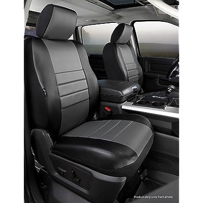 Fia SL67-34 GRAY Custom Fit Front Seat Cover Bucket Seats - Leatherette (Black w/Gray Center Panel): Automotive