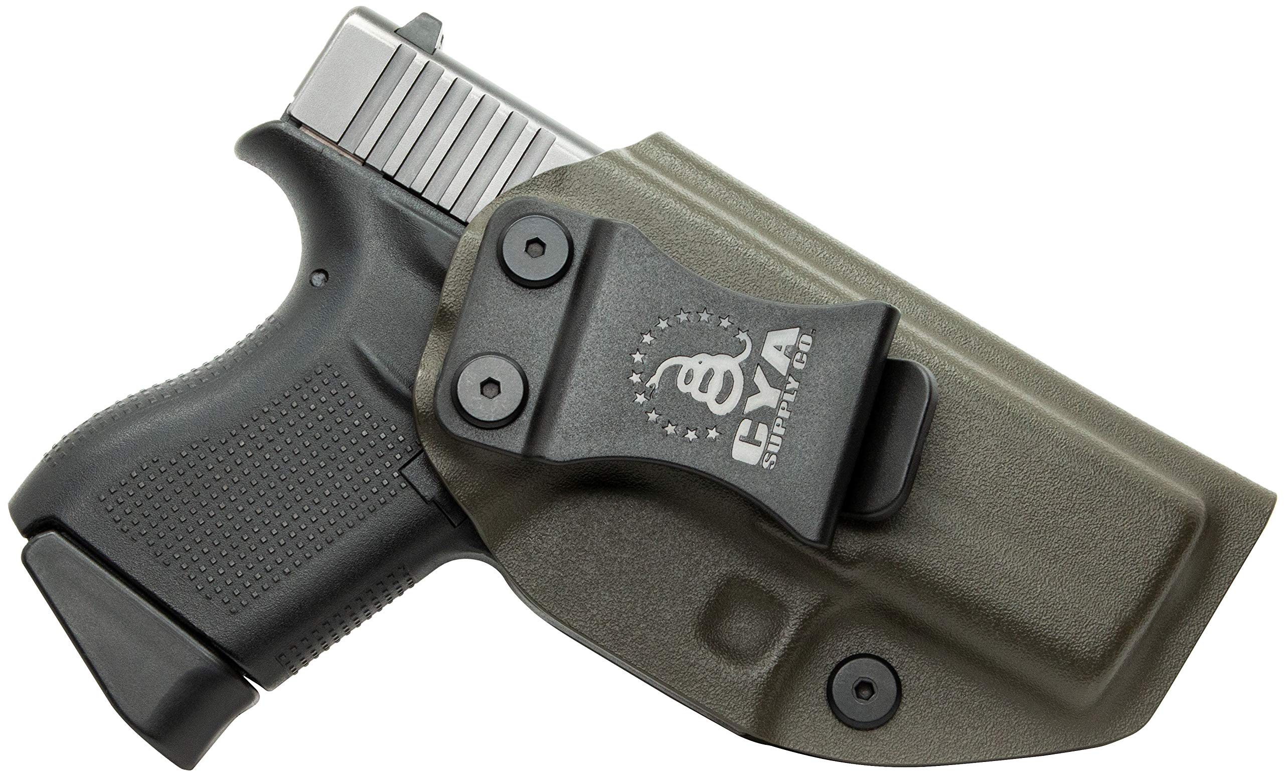 CYA Supply Co. IWB Holster Fits: Glock 43 - Veteran Owned Company - Made in USA - Inside Waistband Concealed Carry Holster by CYA Supply Co.
