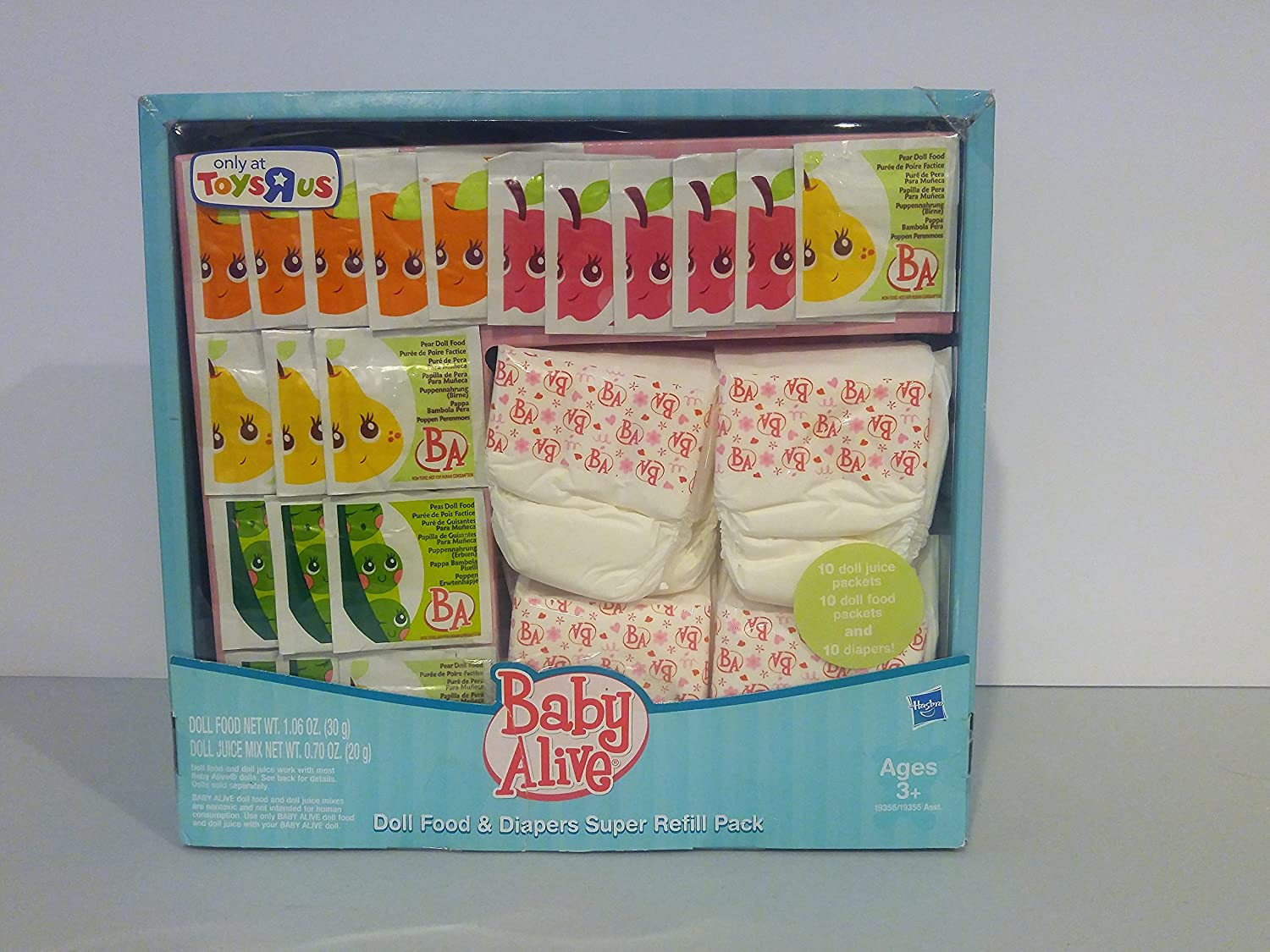 Baby Alive Doll Food, Juice, and Diapers, Super Refill Pack