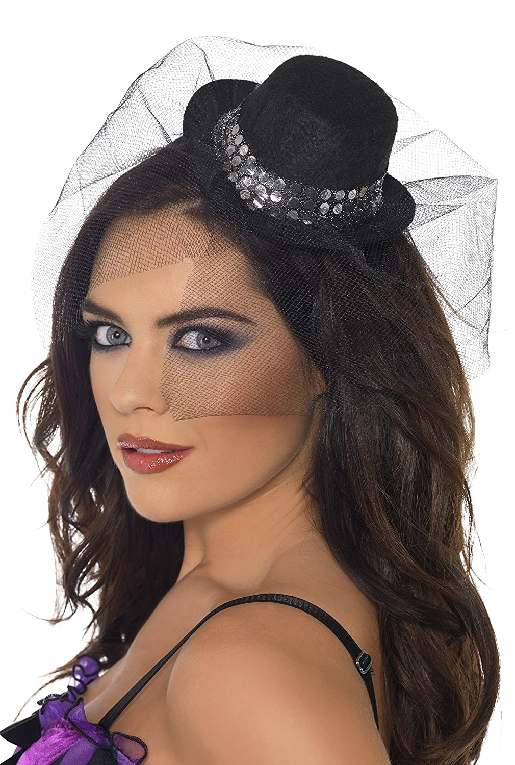 Fever Women's Black Glitter Top Hat