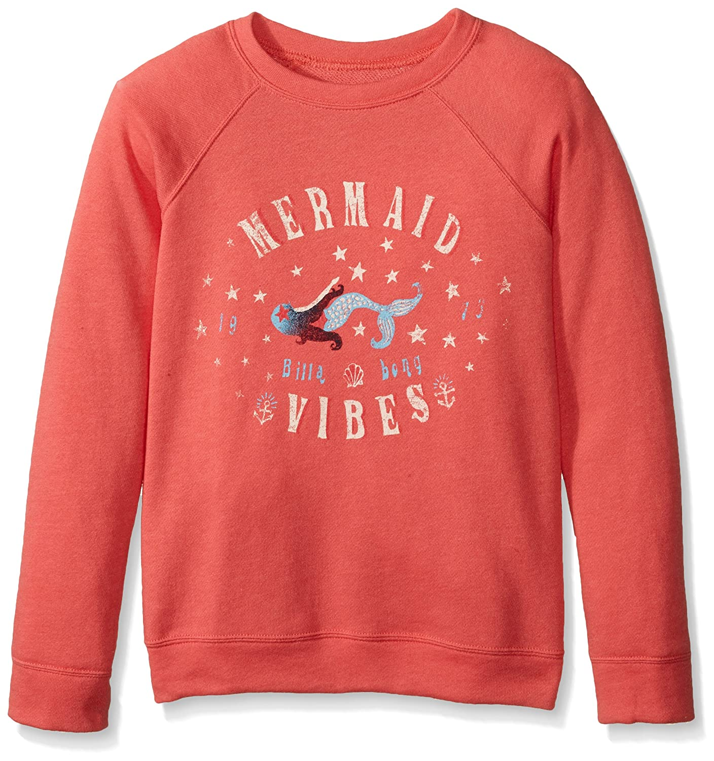 Billabong Girls' Big Time French Terry Pullover Crew G605KTHI