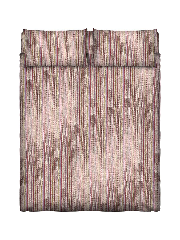 Luxury Dreams cl-lx-millerighe-2p Bettwäsche, 100% Baumwolle, Baumwolle, Baumwolle, Rot, Doppelbett, 300 x 250 x 2 cm, 4 Einheiten B01NA6BC12 Bettzubehr 5cd62a