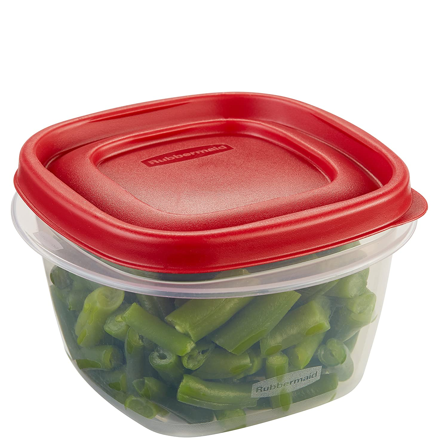 Rubbermaid Easy Find Lids Food Storage Container, 2 Cup, Racer Red 1777085