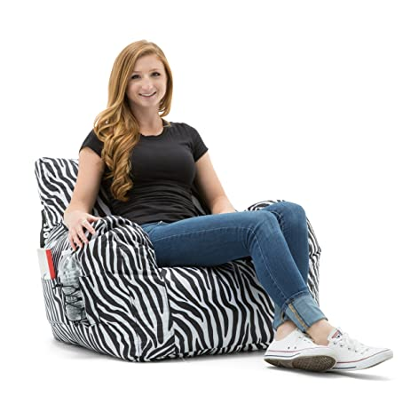 Big Joe Dorm Bean Bag Chair Zebra