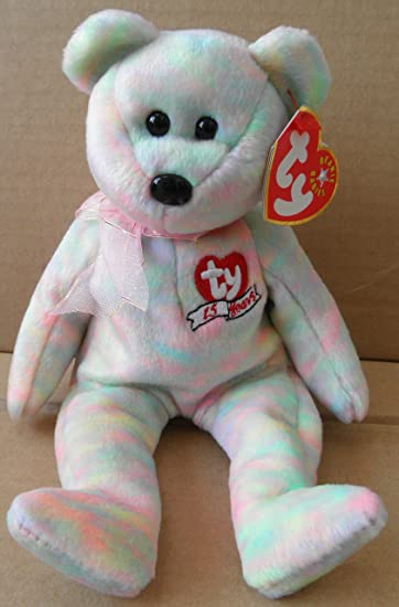 f16e2bc55f3 Amazon.com  Ty Beanie Babies Celebrate - 15th Anniversary Bear  Toys   Games