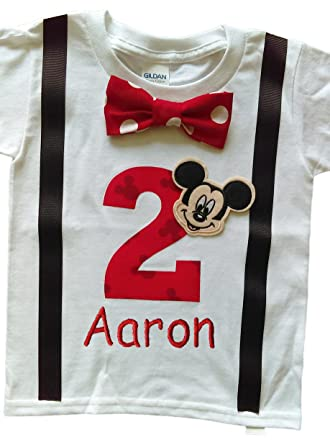 Amazon 2nd Birthday Shirt Boys Mickey Mouse Tee Personalized Clothing