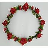 ハナ(HANA)花冠 フラワー ヘッドドレス ヘアアクセサリー 髪飾り ウェディング 結婚式 新婦 花嫁 パーティ ダンス 衣装 ライブ クリスマス ハロウィン イベント ドレスにあわせて