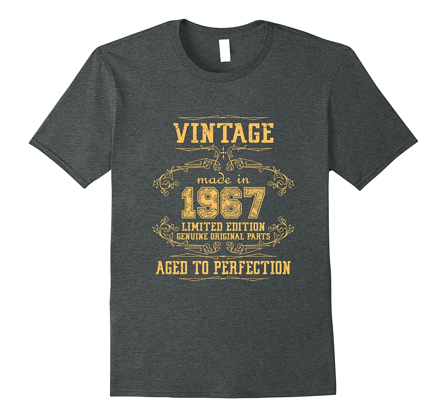6f322a681 50th Birthday Party Vintage Made In 1967 T-Shirt-PL – Polozatee