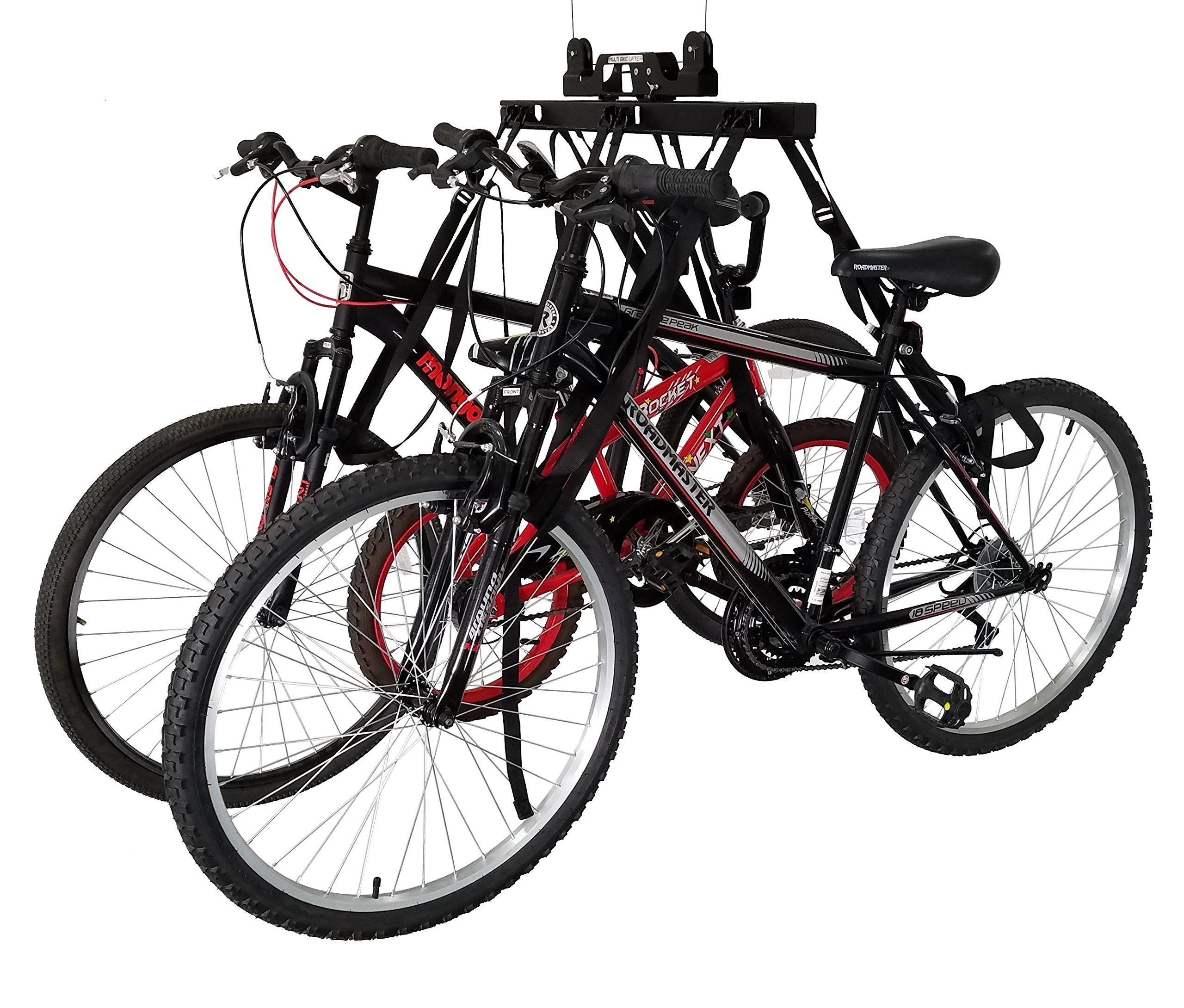 Bike Lift Ceiling Hoist Garage Storage | Smartphone Controlled | 1,2, or 3 Bikes up to 100 lbs