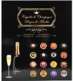 Exacompta 96110E Album de Collection pour 64 Capsules de Champagne Noir 29 x 32,5 cm