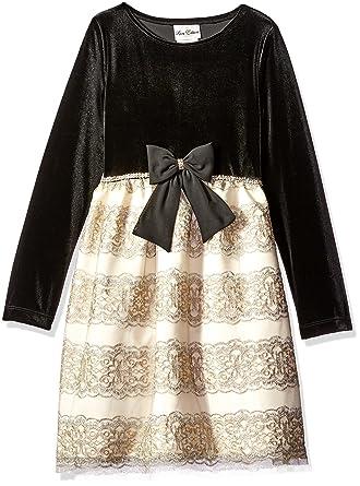 f64efb81b Amazon.com  Rare Editions Girls  Big Velvet Bodice to Embroidered ...